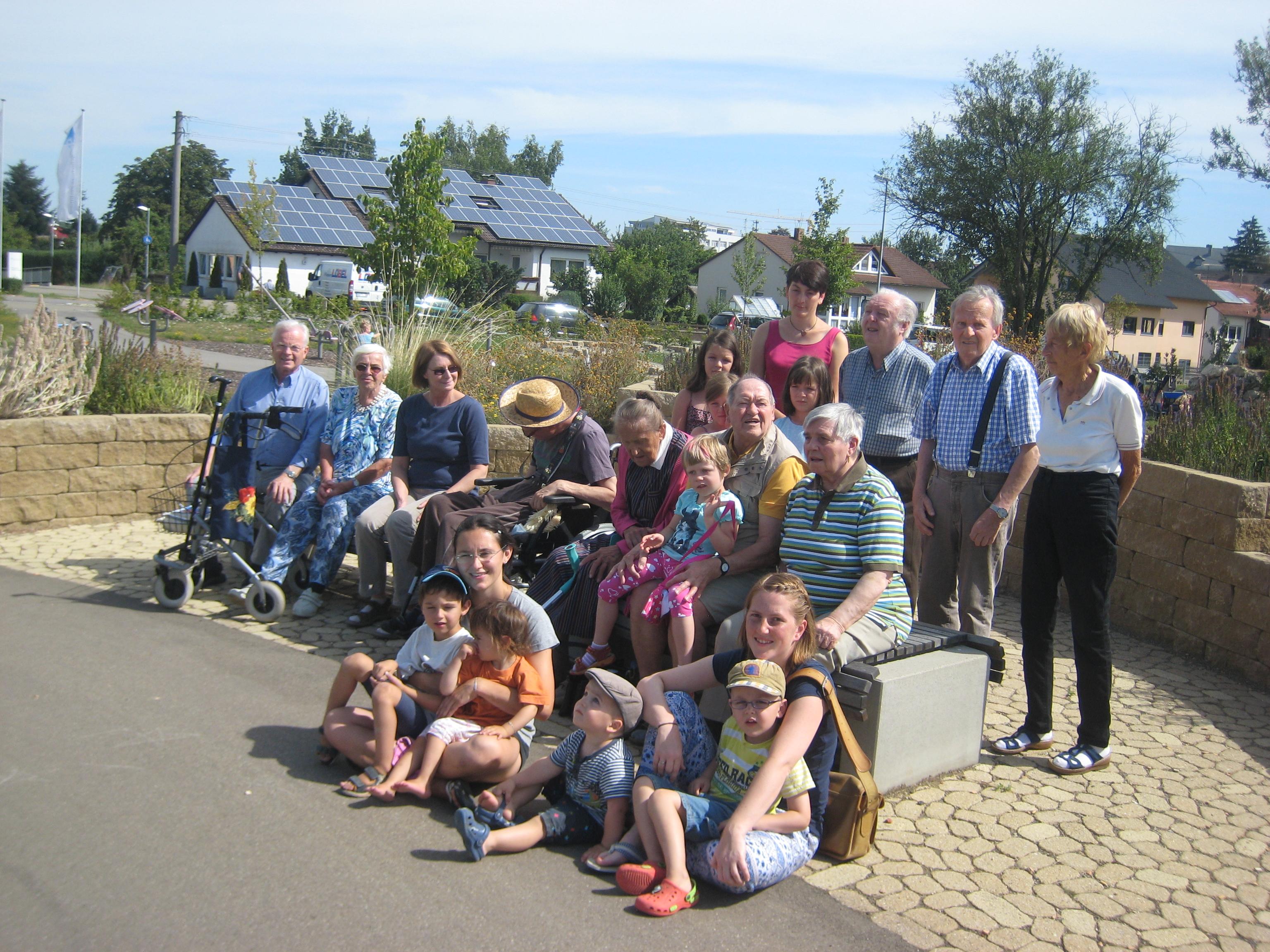 Spontanes Treffen im Mehrgenerationenpark in Gerstetten